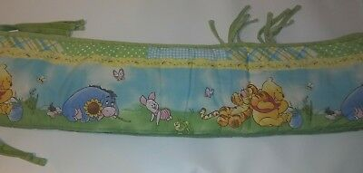 Winnie the Pooh Crib Bumper Light Green in Color for a Baby Boy or Baby Girl