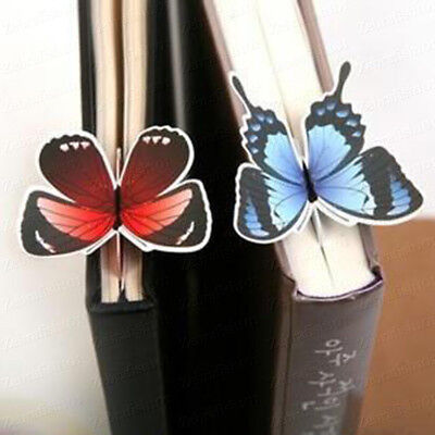 3D Butterfly Shaped Bookmark Book Flag (with a Gift Sleeve)