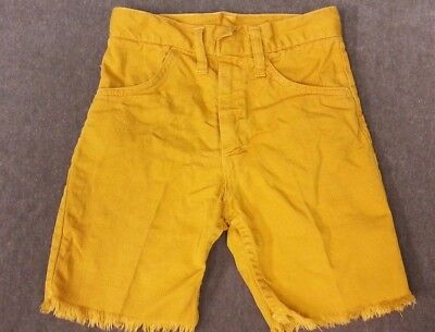 Vintage 70's Shorts Boys Size 5 / 6 Gold Denim Cut off's