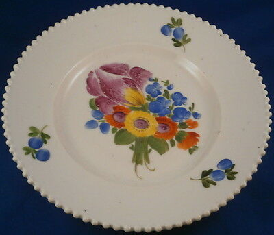 Antique Russian Porcelain Private Factory Floral Plate Porzellan Teller Safranow