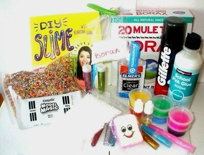 Ultimate Slime  Kit Karina Garcia Book  REAL BORAX & ELMERS  FREE SQUISHY GIFT