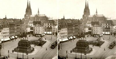 20 STEREOFOTOS KÖLN IN NRW DOM - ca. 1900 Lot 2