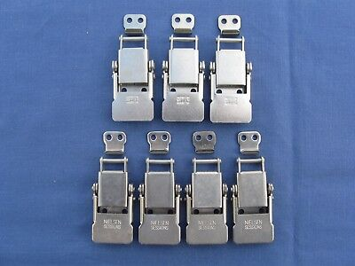 """Draw Latch, """"nielsen Sessions"""", #83314, 3-Comp. Springs, Stainless Steel, Qty.=7"""