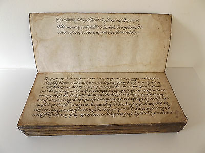 Very Rare BUDDHIST Manuscript TEACHINGS of BUDDHA Prayer PARABAIK Tibetan SHAN