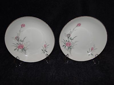 TWO Fine China of Japan Golden Rose Berry Bowls Fruit Set of 2 EXCELLENT