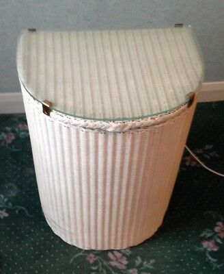 Retro Vintage Genuine Lloyd  Loom Laundry Basket Lusty Washing white antique