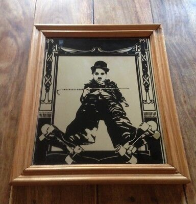 antique vintage mirror charlie chaplin