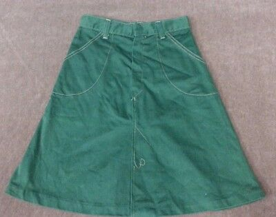 Original True Vintage Retro 70's Skirt Green Size 10 Girls
