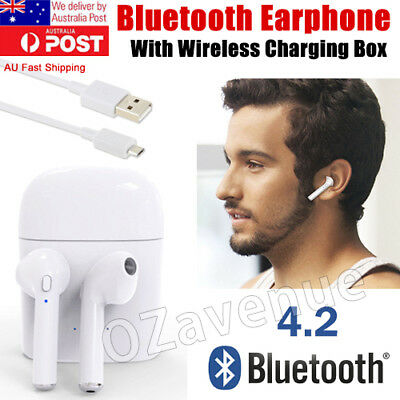 Wireless Bluetooth Headphones Headsets In-ear+Charger Box Case for Apple Airpods