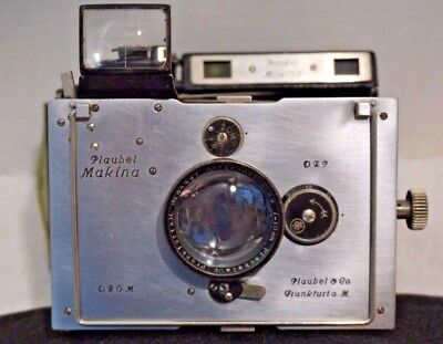 Vintage PLAUBEL MAKINA II camera with accessories
