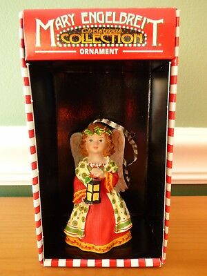 Mary Engelbreit Christmas Collection Ornament Angel Red Dress