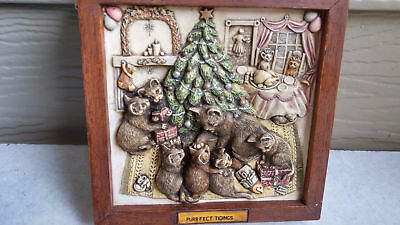 """harmony Kingdom Pictures  Tile Cats """"purrfect Tidings"""