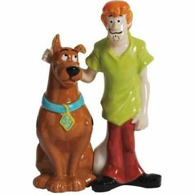 Scooby Doo and Shaggy Ceramic Salt & Pepper Shakers NEW! Gift Boxed