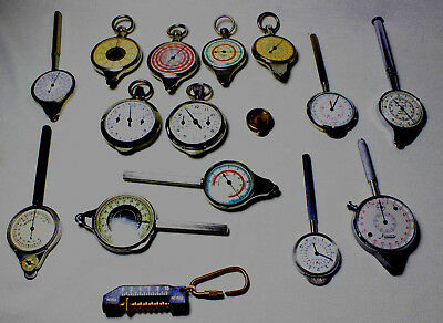 A Very Nice Set Of 16 Opisometers Or Map Measurers