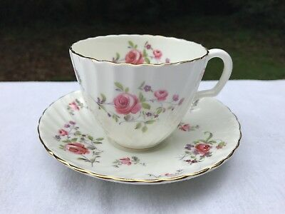 """Lovely Adderley """"Fragrance"""" H889 Fine Bone China Cup and Saucer"""