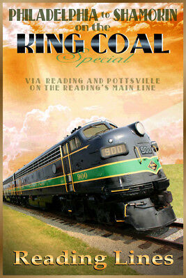 Pennsylvania Railroad EMD Diesel Train Travel Pottsville Poster Art Print 038