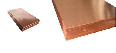 "110 Copper Sheet 1/2 Hard H02  .062"" Thick x 24.0"" Wide x 24.0""  Length"