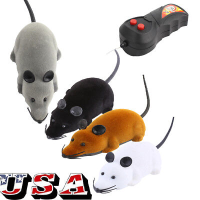 Electronic Rat Mouse Mice Toy Wireless Remote Control RC For Cat Puppy Xmas Gift