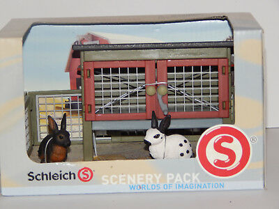 Schleich Scenery Pack Rabbits Hutch Fence Free Shipping