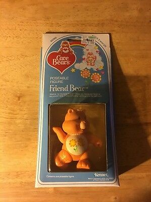 Care Bears Friend Bear Poseable Figure!! New in Box!!  1982!!