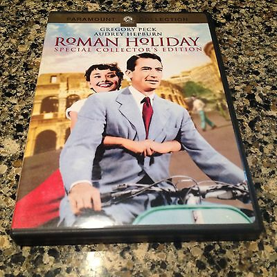 ROMAN HOLIDAY 1953 GREGORY PECK AUDREY HEPBURN EDDIE ALBERT COLLECTOR DVD Mint!