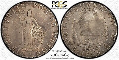 1829 Peru Cuzco 8 reales 1834 Spanish Philippines Countermark YII counterstamp