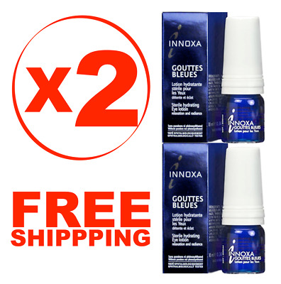 2 X INNOXA Blue Eye Cosmetic Drops, Gouttes Bleues, SEALED, 2 X 10ml ex: 02/2020