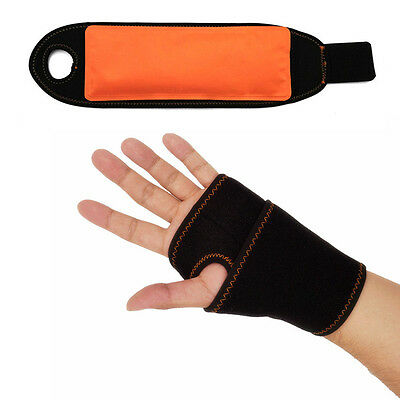 Ice Hot Cold Gel Pack with wrap for Wrist Support Brace Reusable pain relief