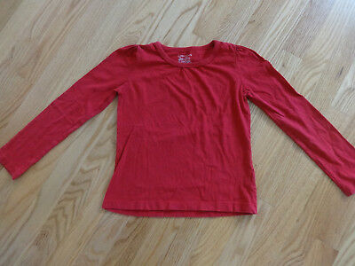 Girls Faded Glory Red Long Sleeve Shirt Top Sz Med 7 8 Valentines Day Vguc