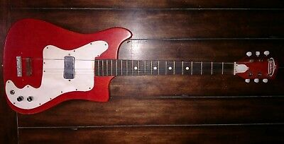 Kay Vanguard Truetone Electric Guitar 1960s Vintage She's Red!