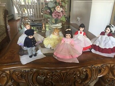 Vintage - Alexander-kins Little Woman Dolls - Lot Of 6