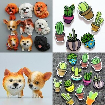 New Fashion Novelty Cactus Plants&Cute Dog Fridge Magnets Notice Board Stickers#