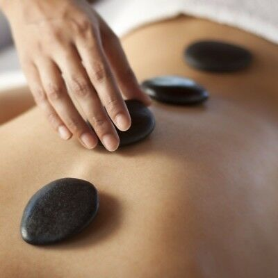 Massage Therapy Relaxation Spa Hot Natural Healing Treatment Basalt Rock Stone