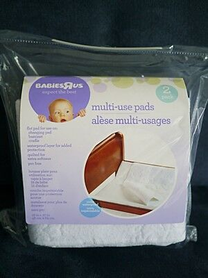 2 x waterproof liners/mats for baby bassinet, cradle or change table/pad/mat