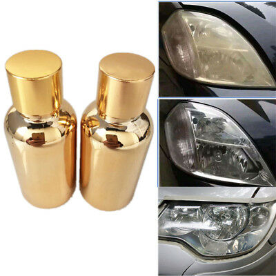 2PCS Chemical Compound Car Headlight Lens Cover Repair Coating Nebulized Liquid
