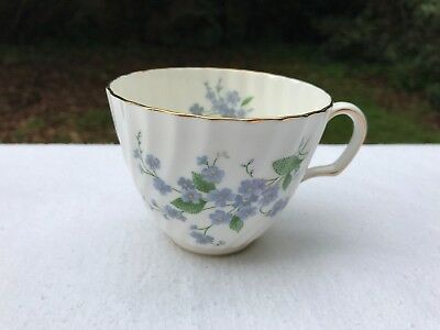 """Attractive Vintage Adderley """"Forget Me Not"""" Fine Bone China Cup"""