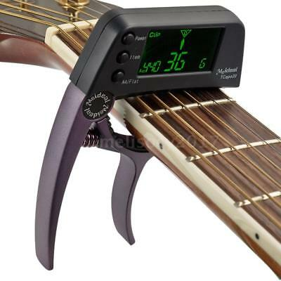 Meideal TCapo20 Quick Change Key Capo Tuner for Guitar Bass Chromatic Q7Y2