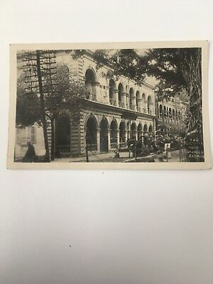 1932 CHINA POSTCARD The Victoria Hotel Shameed Canton Sent From China To England