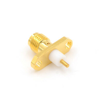 SMA-KFD SMA female with 2 holes flange PTFE deck solder RF connector H&T