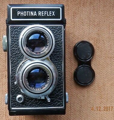 LEATHER CASED PHOTOVIT PHOTINA REFLEX TLR CAMERA for DISPLAY