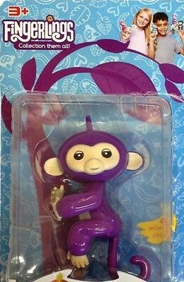 Baby Monkey Lings Kids Cute Electronic Interactive Finger Light Pet Toy Gift UK