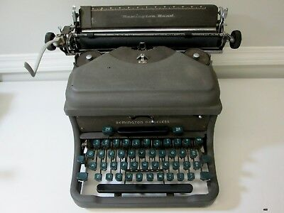 Vintage 1950's REMINGTON RAND NOISELESS Manual Typewriter : Restore or for parts