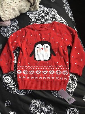 Baby Girls Brand New Christmas Jumper Size 18-24 Months Bnwt