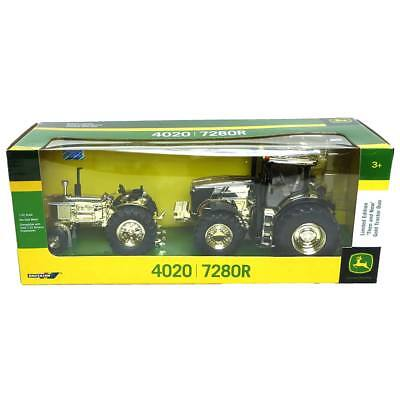 Limited Edition John Deere 'Then and Now' Gold Tractor Duo 4020 7280R