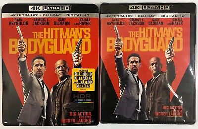 The Hitman's Bodyguard 4K Ultra Hd Blu Ray 2 Disc Set + Slipcover Free Shipping