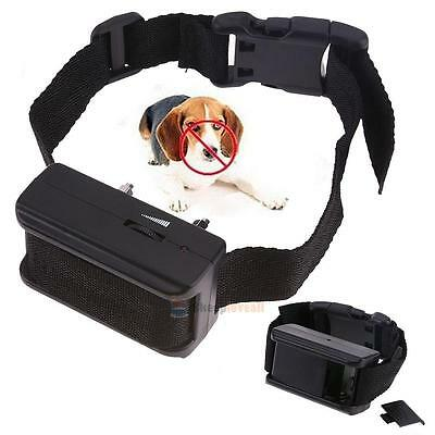 Ultrasonic Electric Anti Bark No Barking Tone Shock Training Collar for Pet Dog
