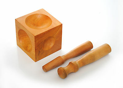 """2.5"""" Wood Wooden Punches & Dapping Doming Forming Block Wax Jewellery M0031"""