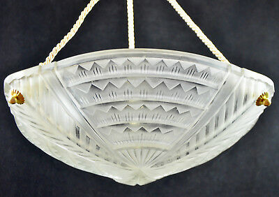 NOVERDY French Art Deco Ceiling Light Fixture Chandelier Degué Mueller Daum