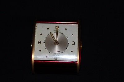 Stunning Jaeger Le Coultre 8 Day Travel Alarm Clock Circa 1940/50's