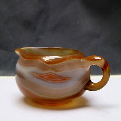 Exquisite Hand-carved Natural Untreated Agate Coffee Pot
